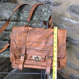 Frye shoulder satchel brown leather shoulder bag